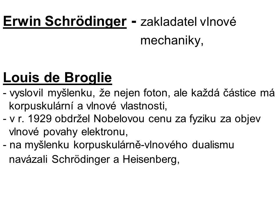 Erwin Schrödinger - zakladatel vlnové