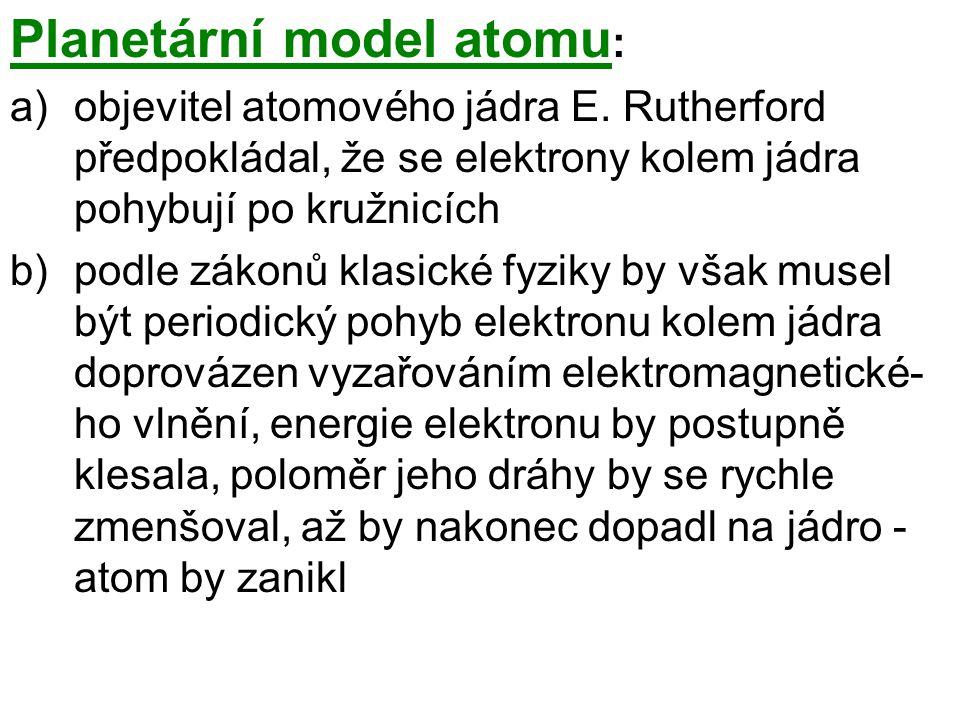 Planetární model atomu: