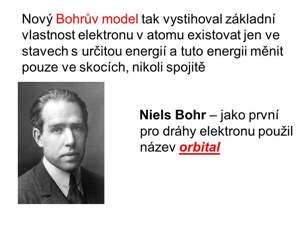 Nový Bohrův model tak vystihoval základní