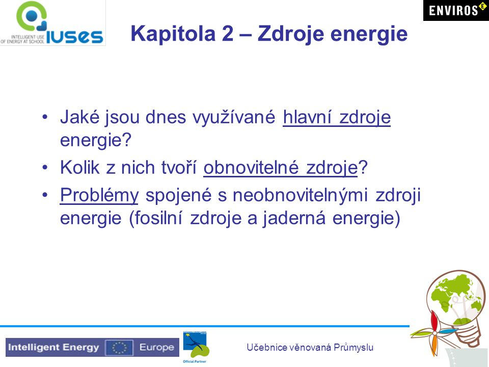 Kapitola 2 – Zdroje energie