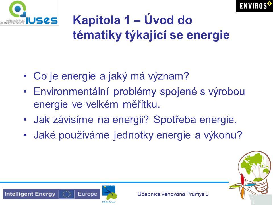 Kapitola 1 – Úvod do tématiky týkající se energie