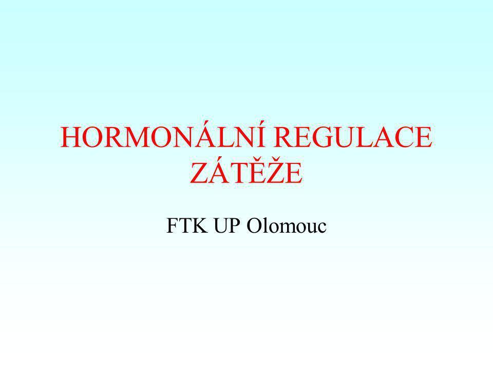 HORMONÁLNÍ REGULACE ZÁTĚŽE