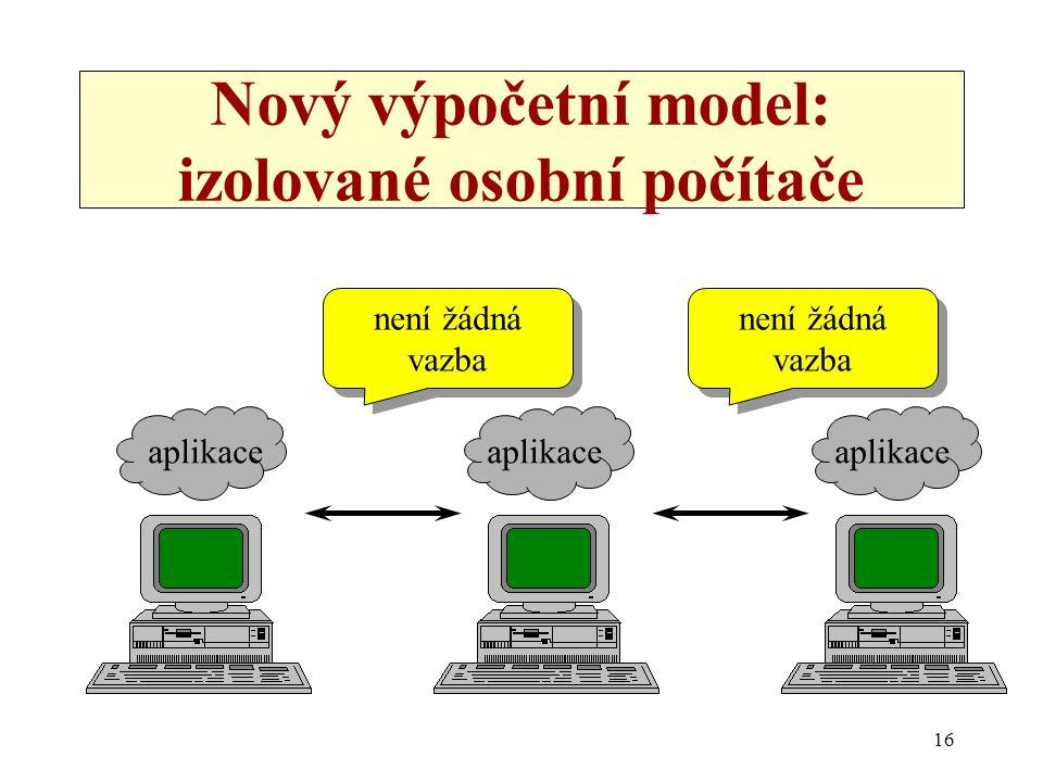 Nový výpočetní model: izolované osobní počítače