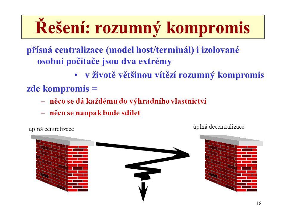 Řešení: rozumný kompromis