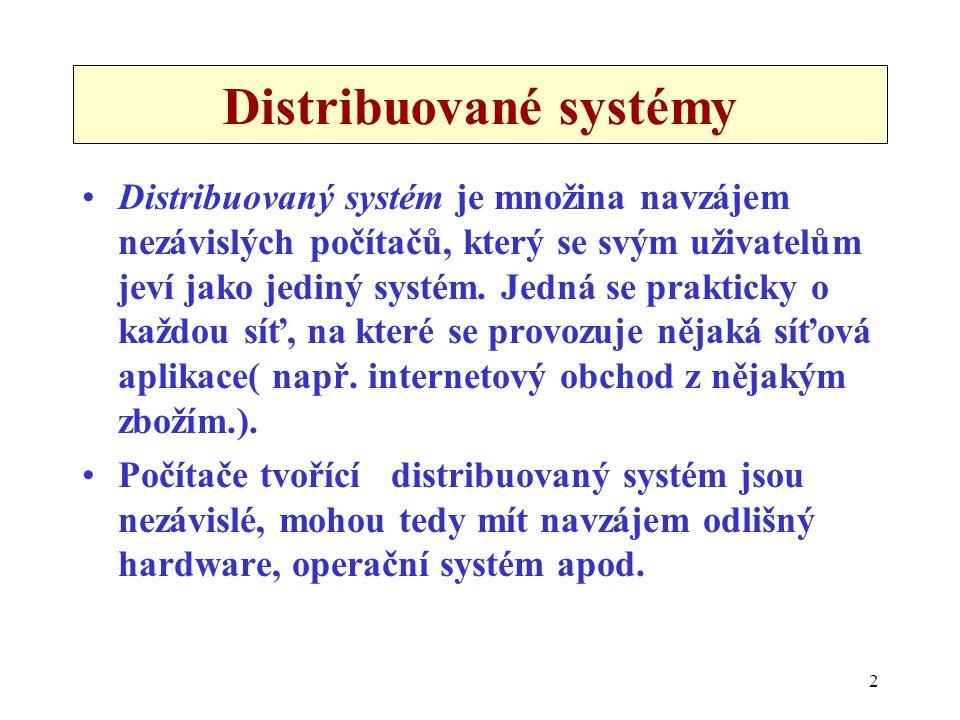 Distribuované systémy