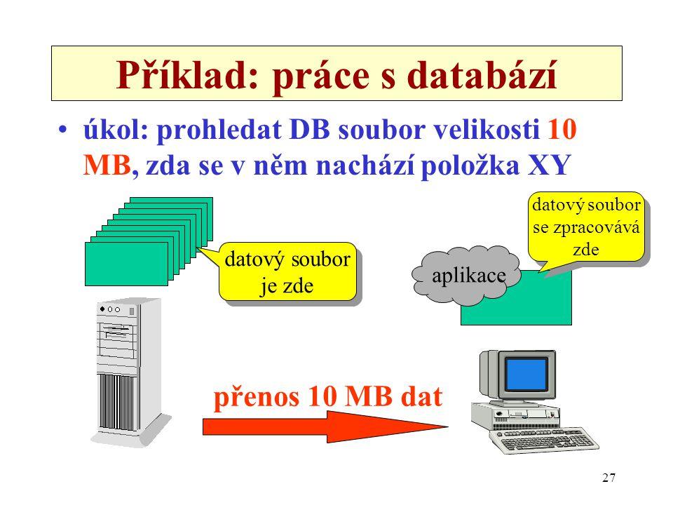 Příklad: práce s databází