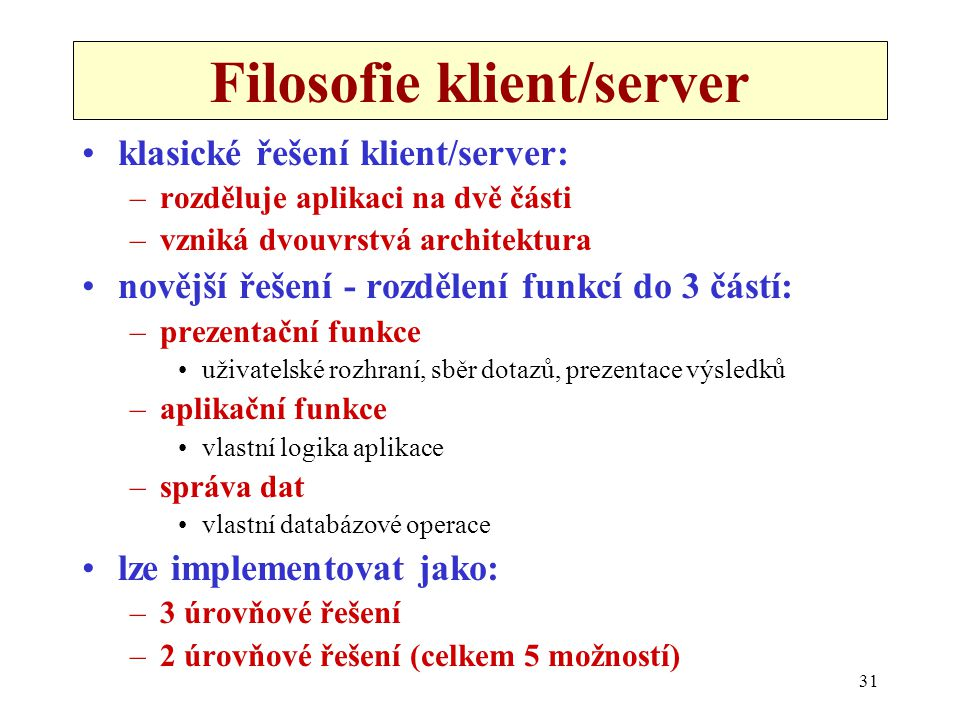 Filosofie klient/server