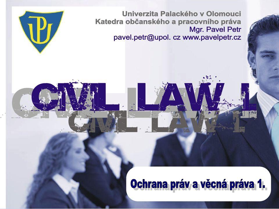 Ochrana práv a věcná práva 1.