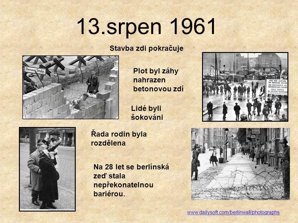 13.srpen 1961 Stavba zdi pokračuje