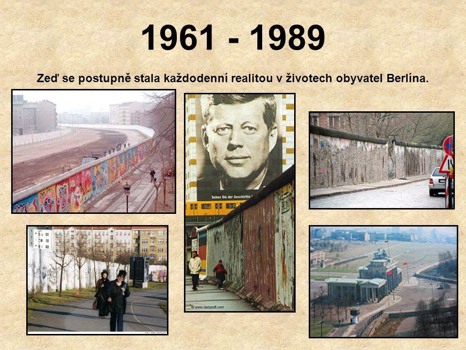 Zeď se postupně stala každodenní realitou v životech obyvatel Berlína.