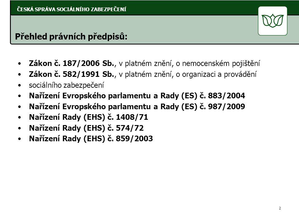 Přehled právních předpisů: