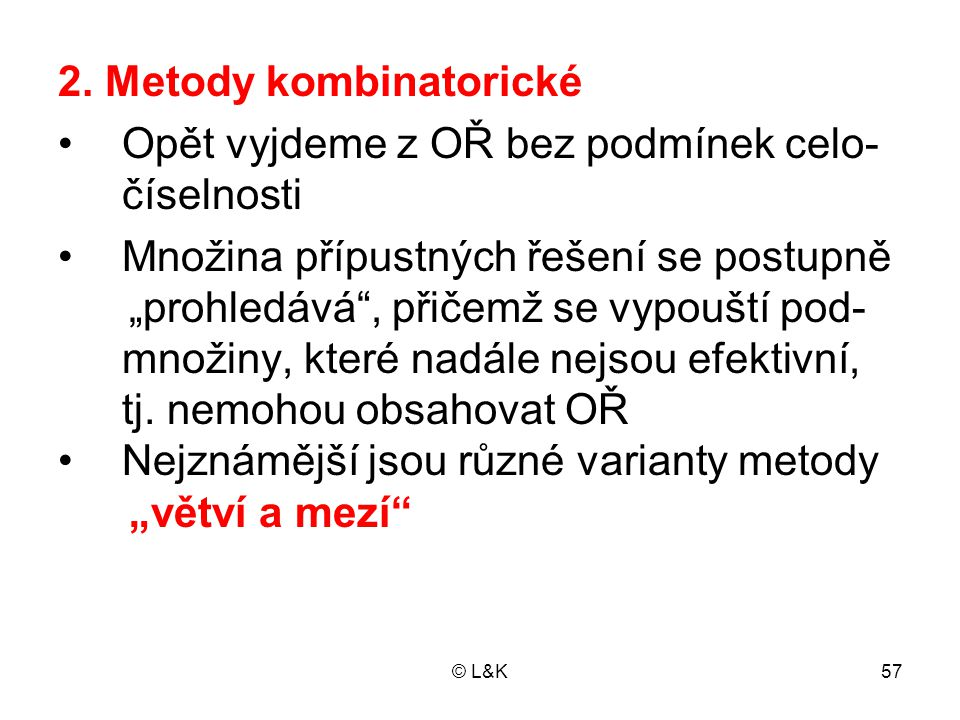 2. Metody kombinatorické