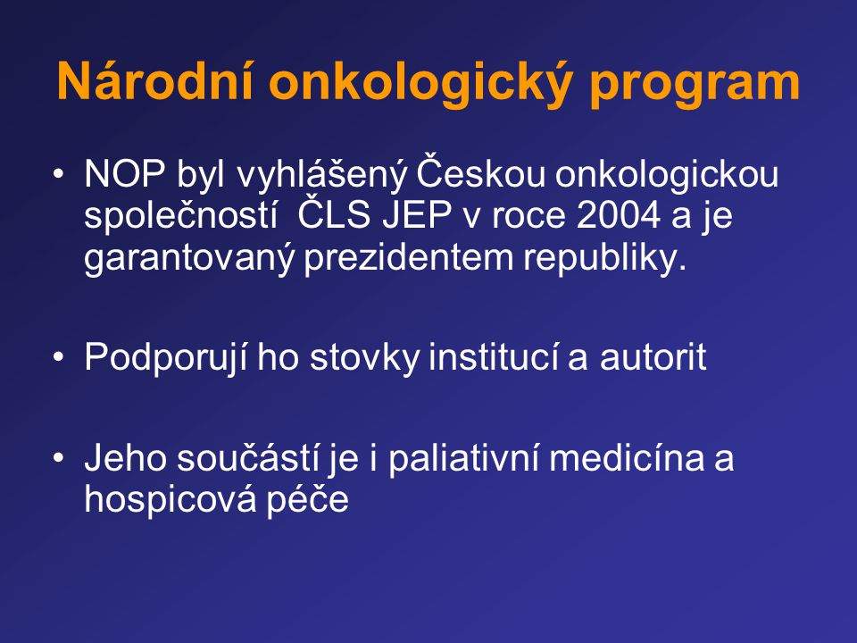 Národní onkologický program