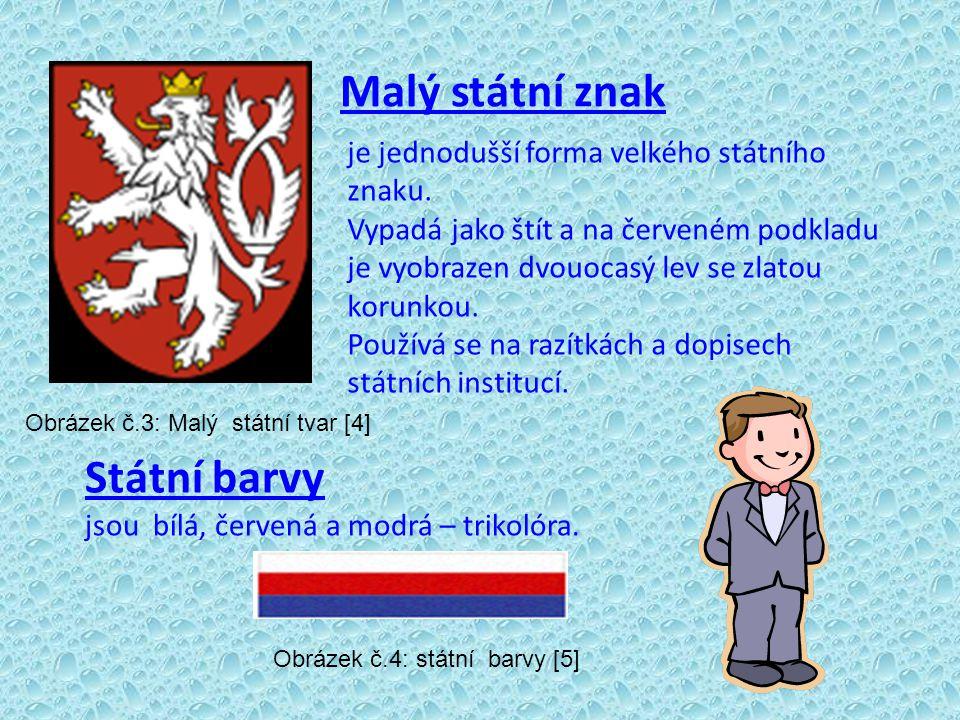Malý státní znak Státní barvy