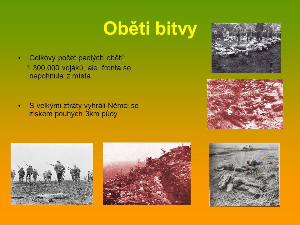 Oběti bitvy Celkový počet padlých obětí: