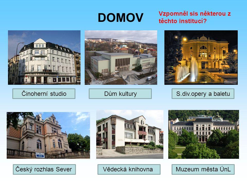 DOMOV Vzpomněl sis některou z těchto institucí Činoherní studio
