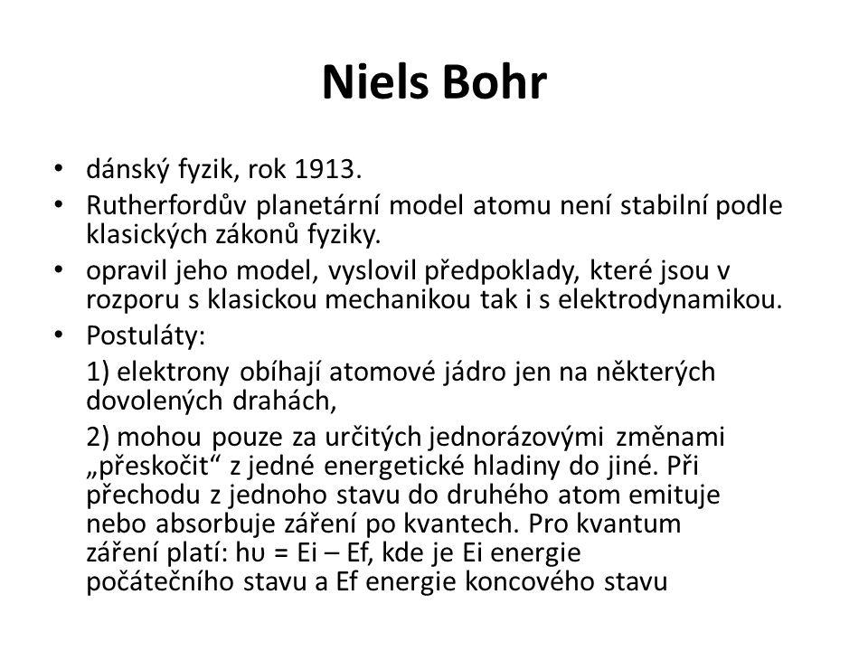 Niels Bohr dánský fyzik, rok 1913.