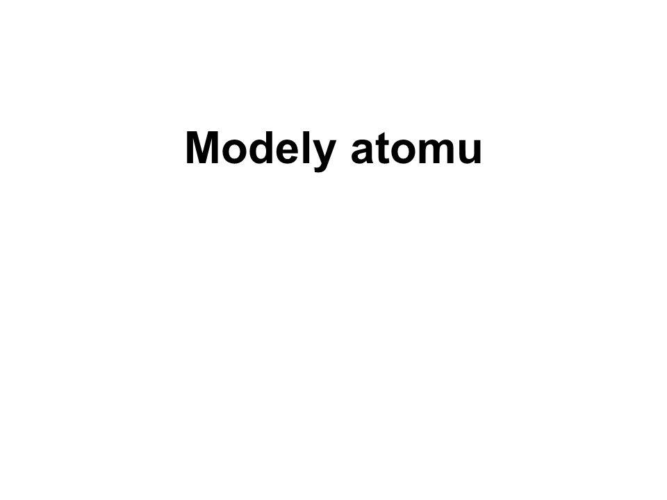 Modely atomu