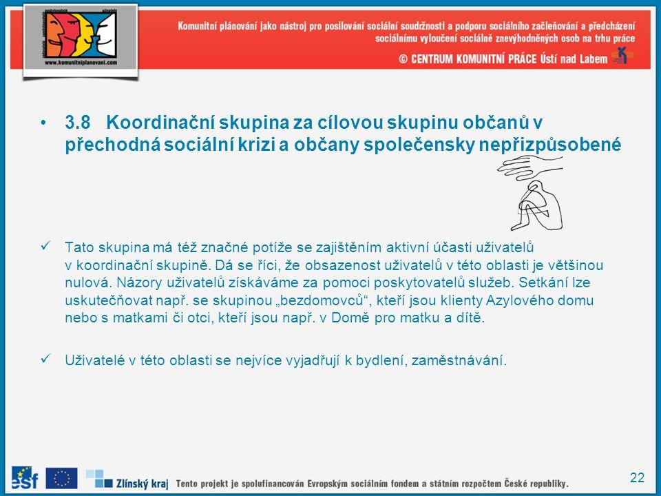 3.8 Koordinační skupina za cílovou skupinu občanů v přechodná sociální krizi a občany společensky nepřizpůsobené