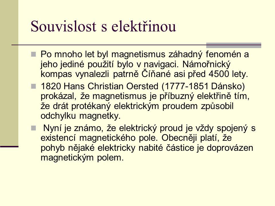 Souvislost s elektřinou