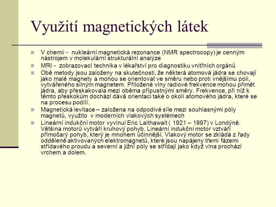 Využití magnetických látek