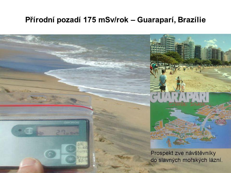 Přírodní pozadí 175 mSv/rok – Guaraparí, Brazílie