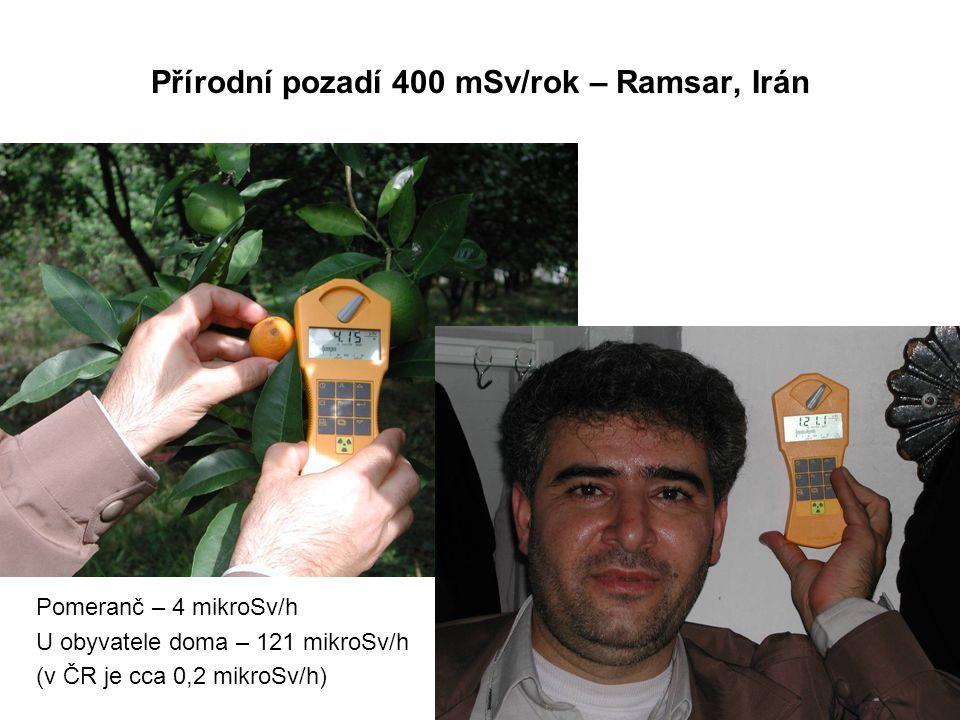 Přírodní pozadí 400 mSv/rok – Ramsar, Irán