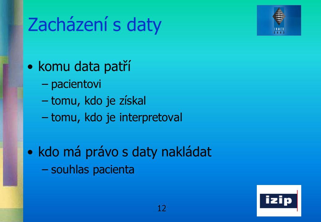 Zacházení s daty komu data patří kdo má právo s daty nakládat