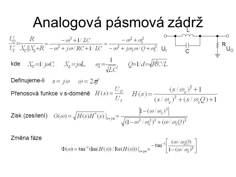 Analogová pásmová zádrž