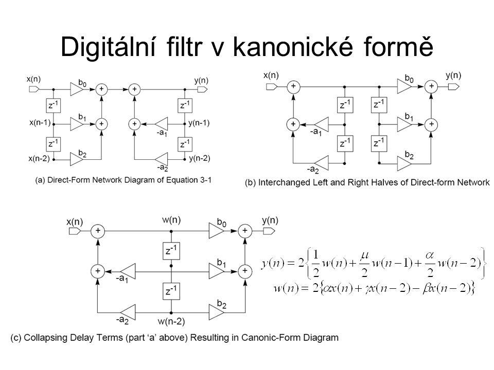 Digitální filtr v kanonické formě