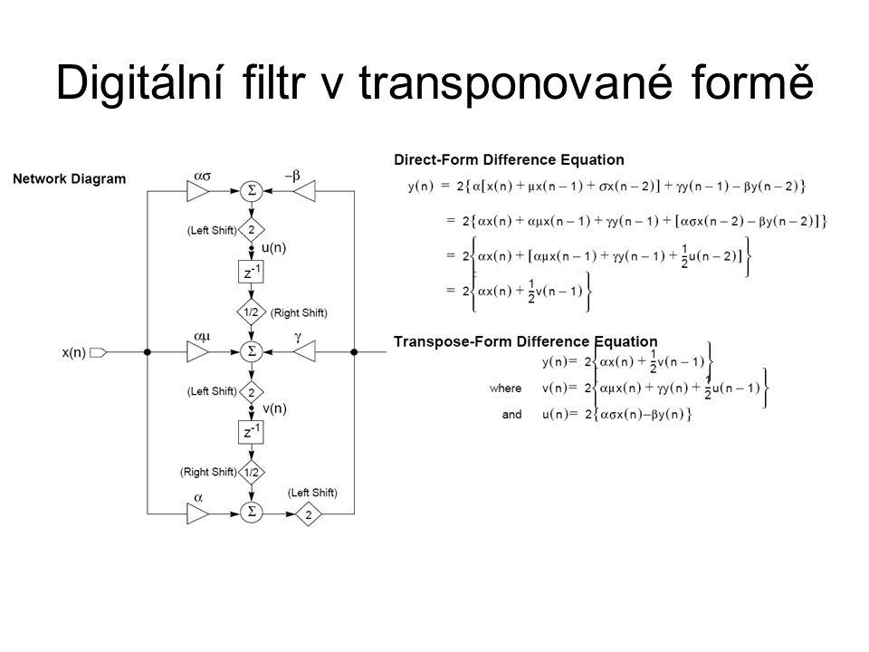 Digitální filtr v transponované formě