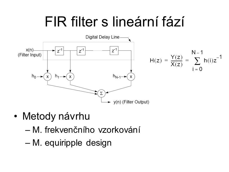FIR filter s lineární fází