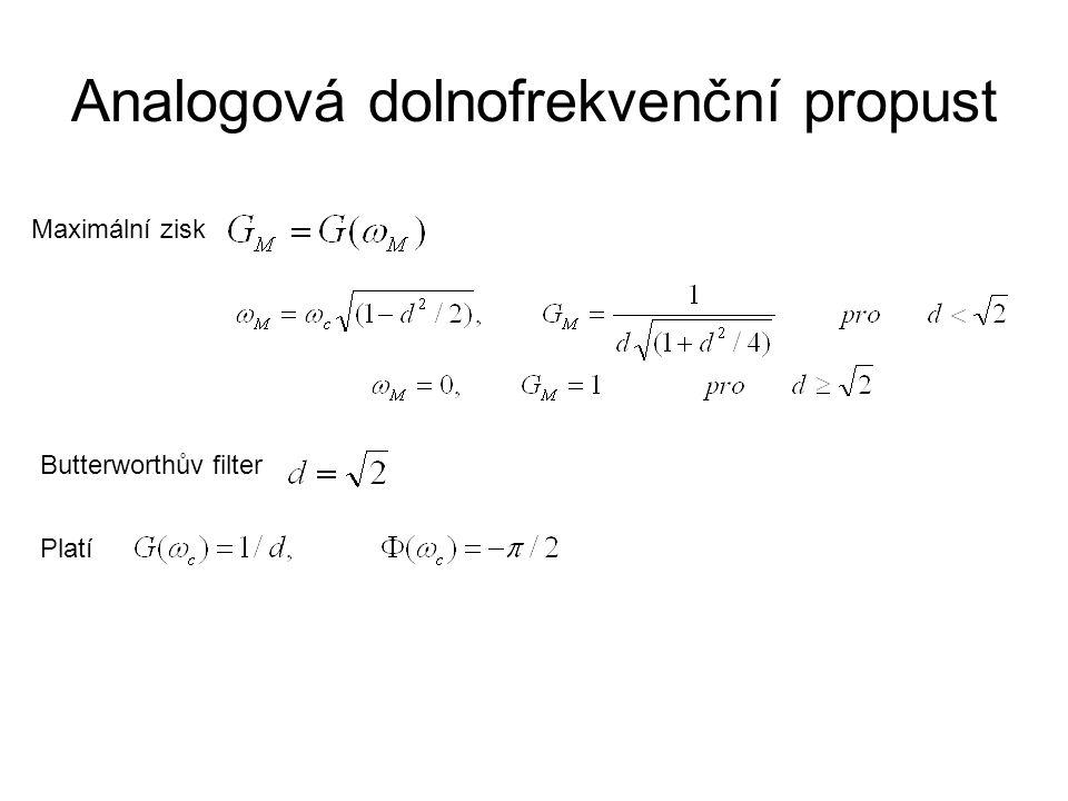 Analogová dolnofrekvenční propust