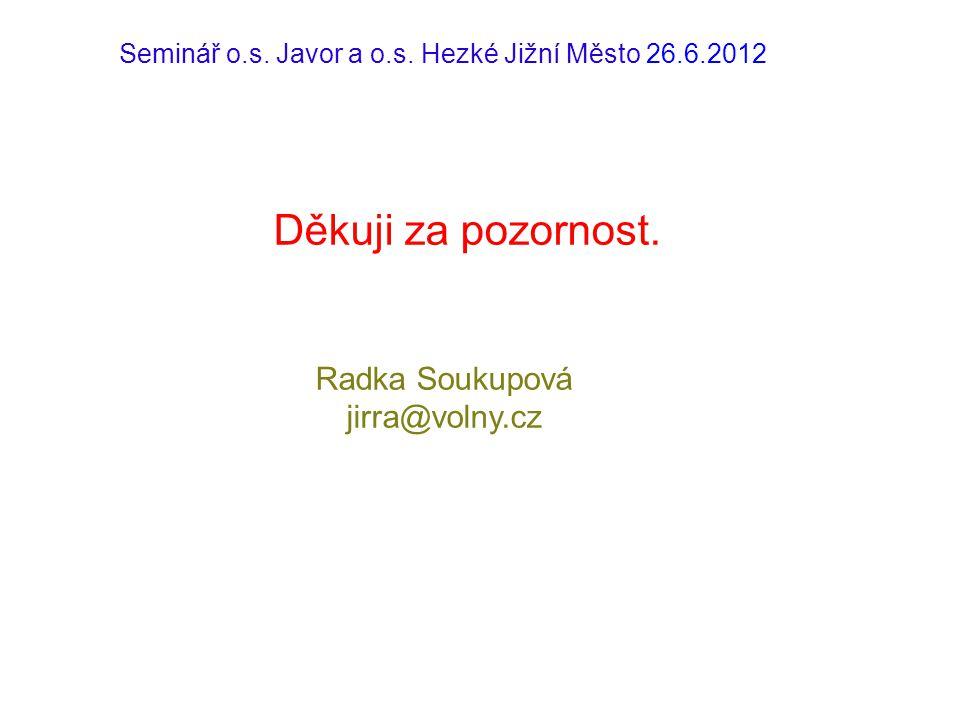 Seminář o.s. Javor a o.s. Hezké Jižní Město 26.6.2012
