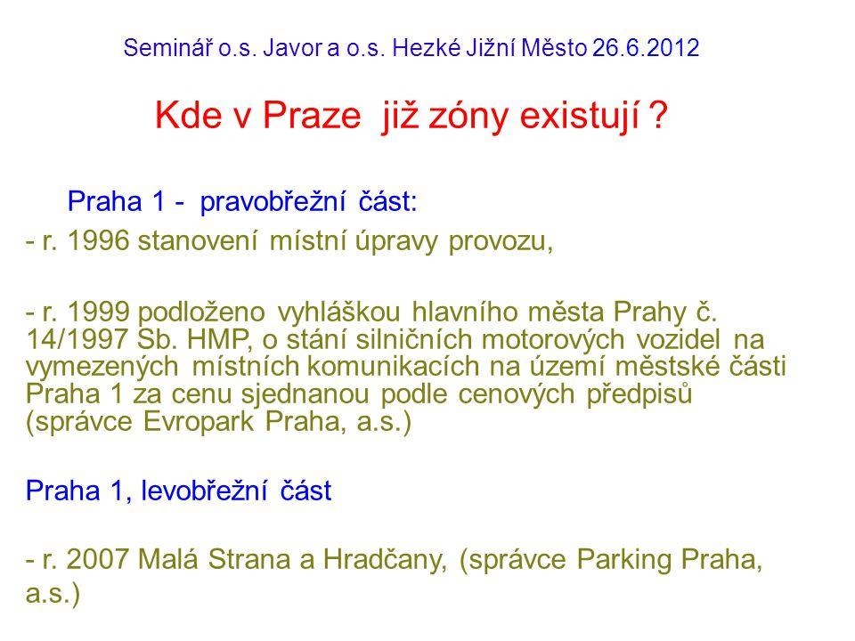 Praha 1 - pravobřežní část: