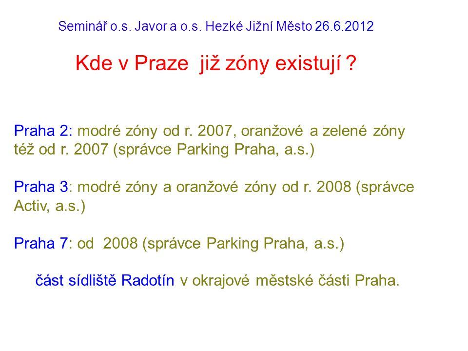 Kde v Praze již zóny existují