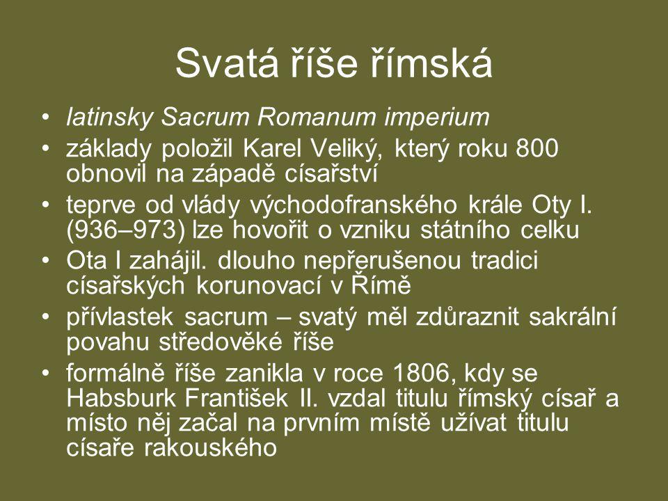 Svatá říše římská latinsky Sacrum Romanum imperium