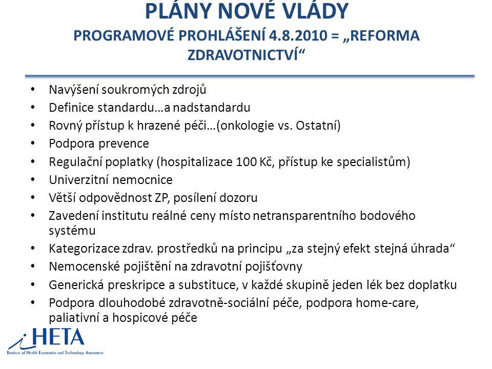 PLÁNY NOVÉ VLÁDY PROGRAMOVÉ PROHLÁŠENÍ 4. 8