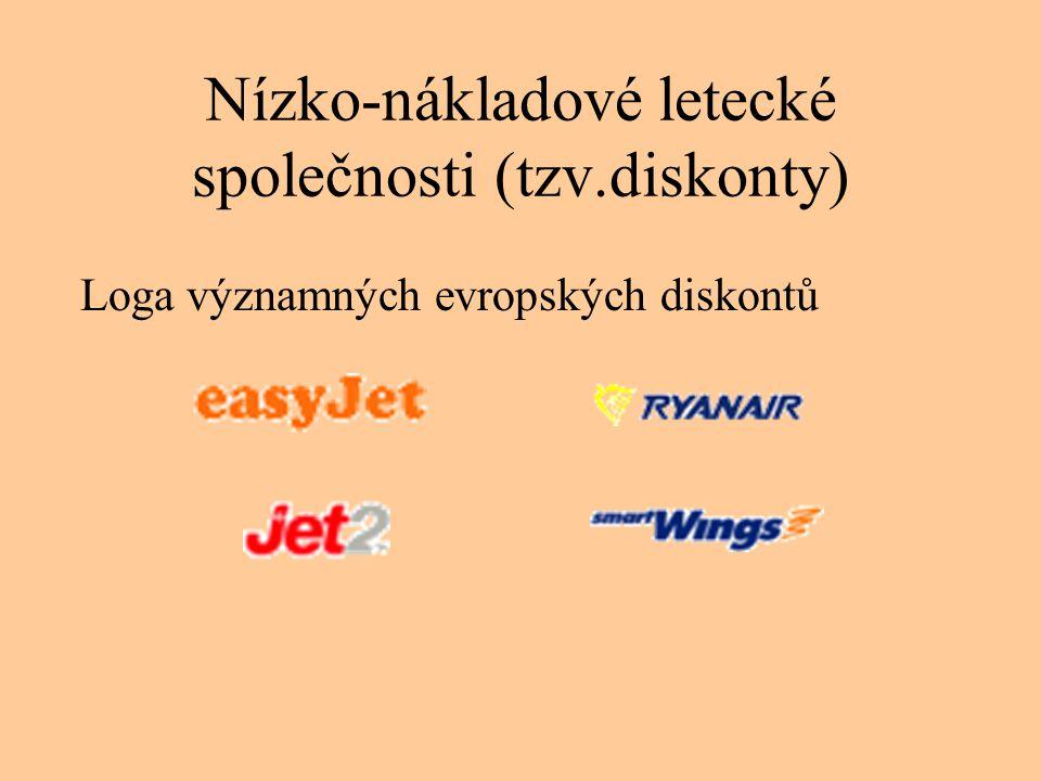 Nízko-nákladové letecké společnosti (tzv.diskonty)