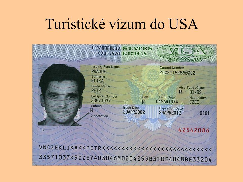 Turistické vízum do USA