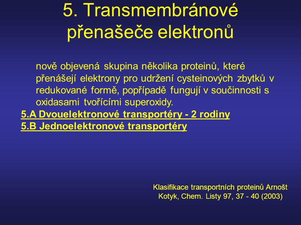5. Transmembránové přenašeče elektronů