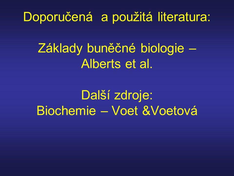 Doporučená a použitá literatura: Základy buněčné biologie – Alberts et al.