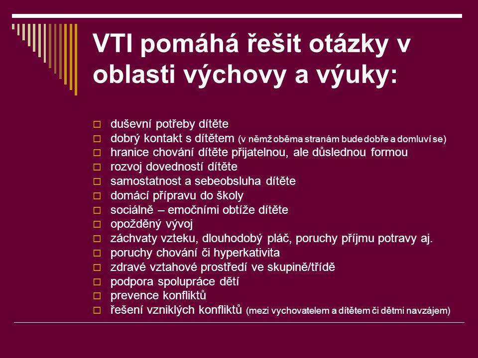 VTI pomáhá řešit otázky v oblasti výchovy a výuky: