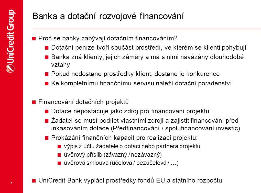 Banka a dotační rozvojové financování