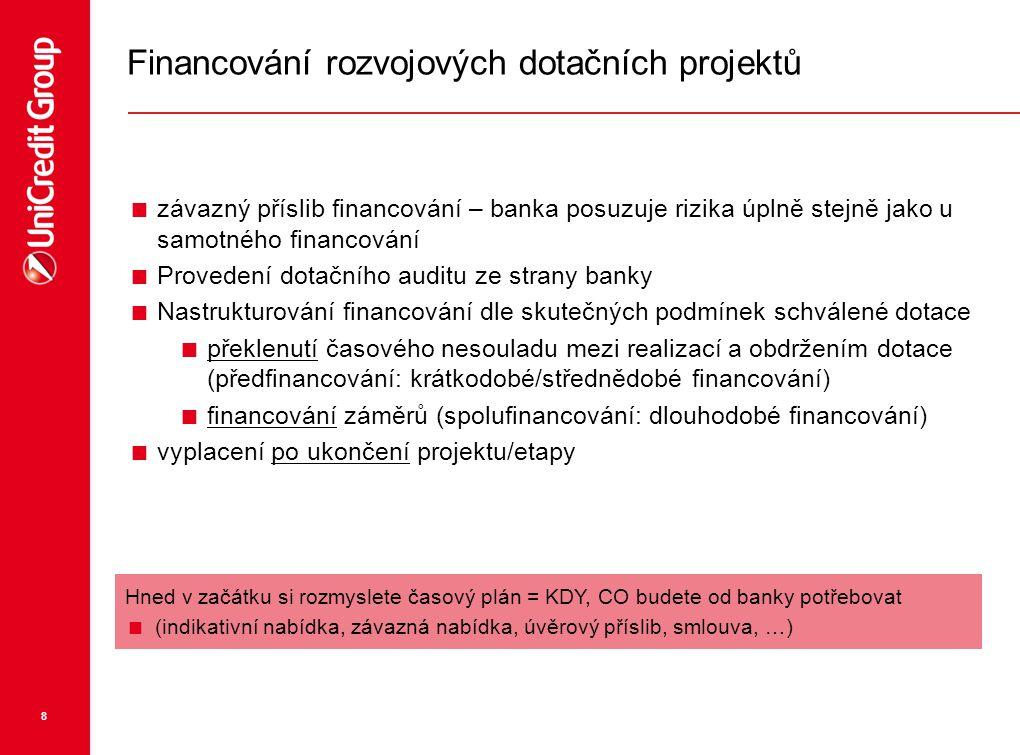 Financování rozvojových dotačních projektů