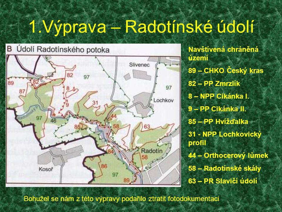 1.Výprava – Radotínské údolí