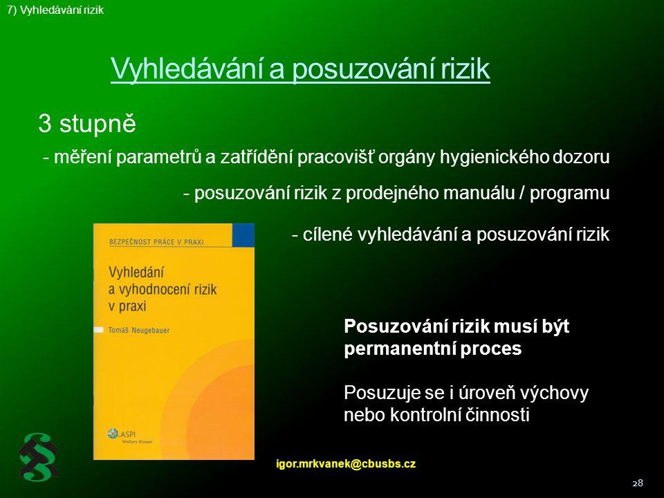 Vyhledávání a posuzování rizik