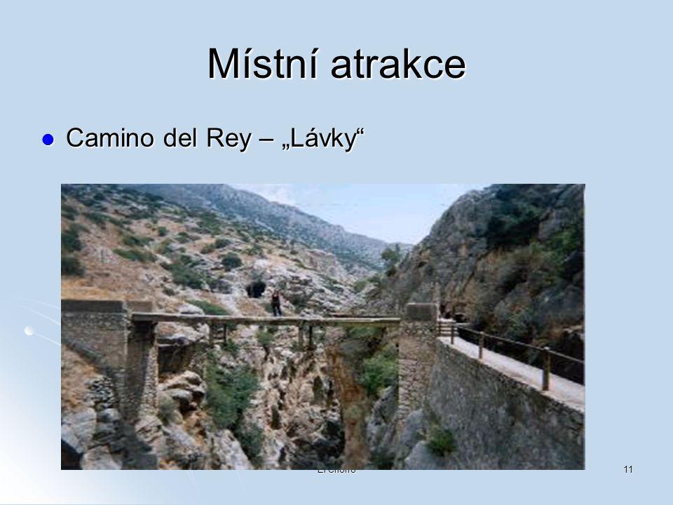 "Místní atrakce Camino del Rey – ""Lávky El Chorro"