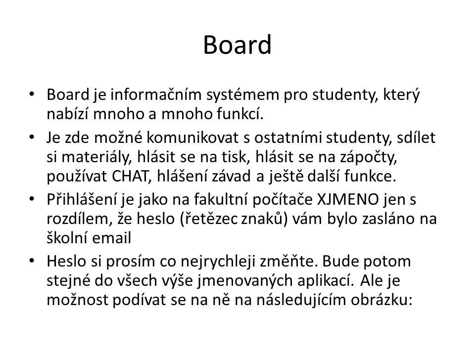 Board Board je informačním systémem pro studenty, který nabízí mnoho a mnoho funkcí.