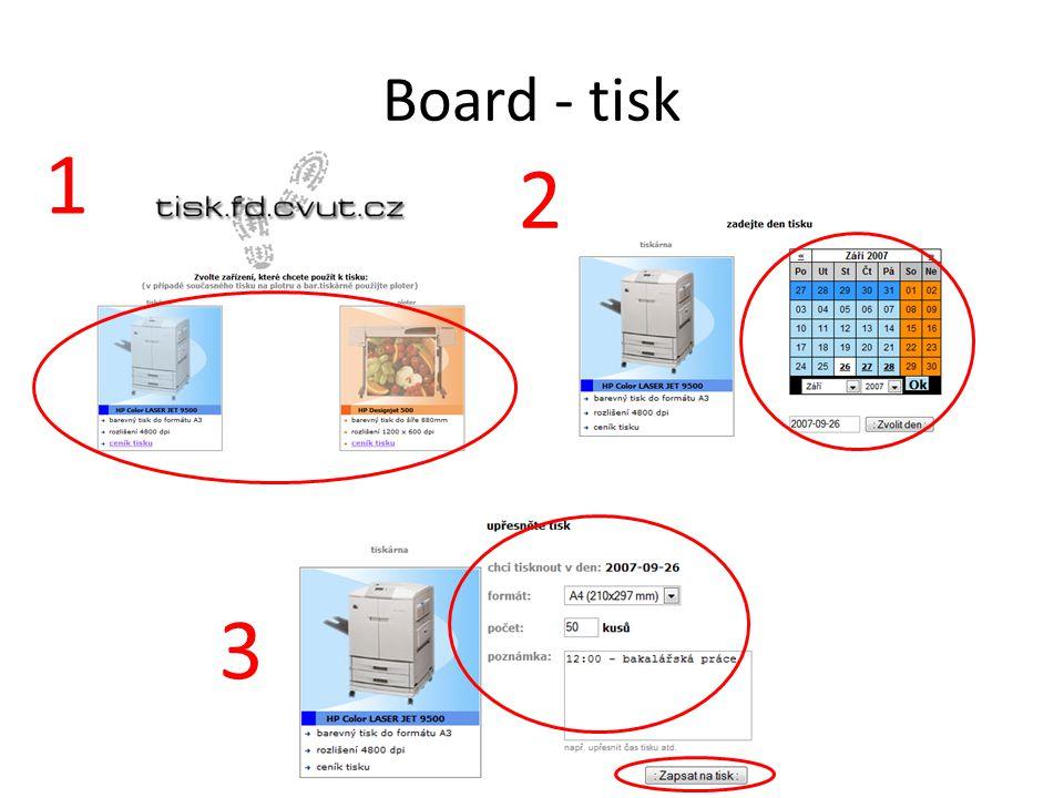 Board - tisk 1 2 3